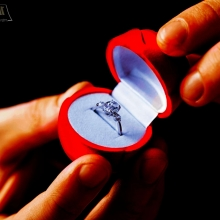 טבעת יהלום של הצעת נישואין