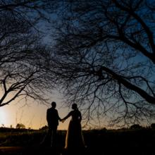 צילום חתונה בשקיעה
