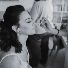 צילום חתונה איפור כלה בשחור לבן